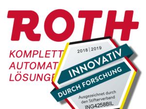 """Roth Steuerungstechnik - 25. September 2018 - Auszeichnung für die Roth Gruppe – """"Innovativ durch Forschung"""""""